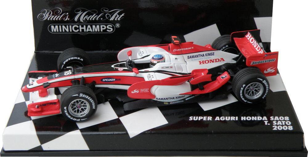 Super Aguri Honda SA08 T.Sato 2008   400080018 Minichamps