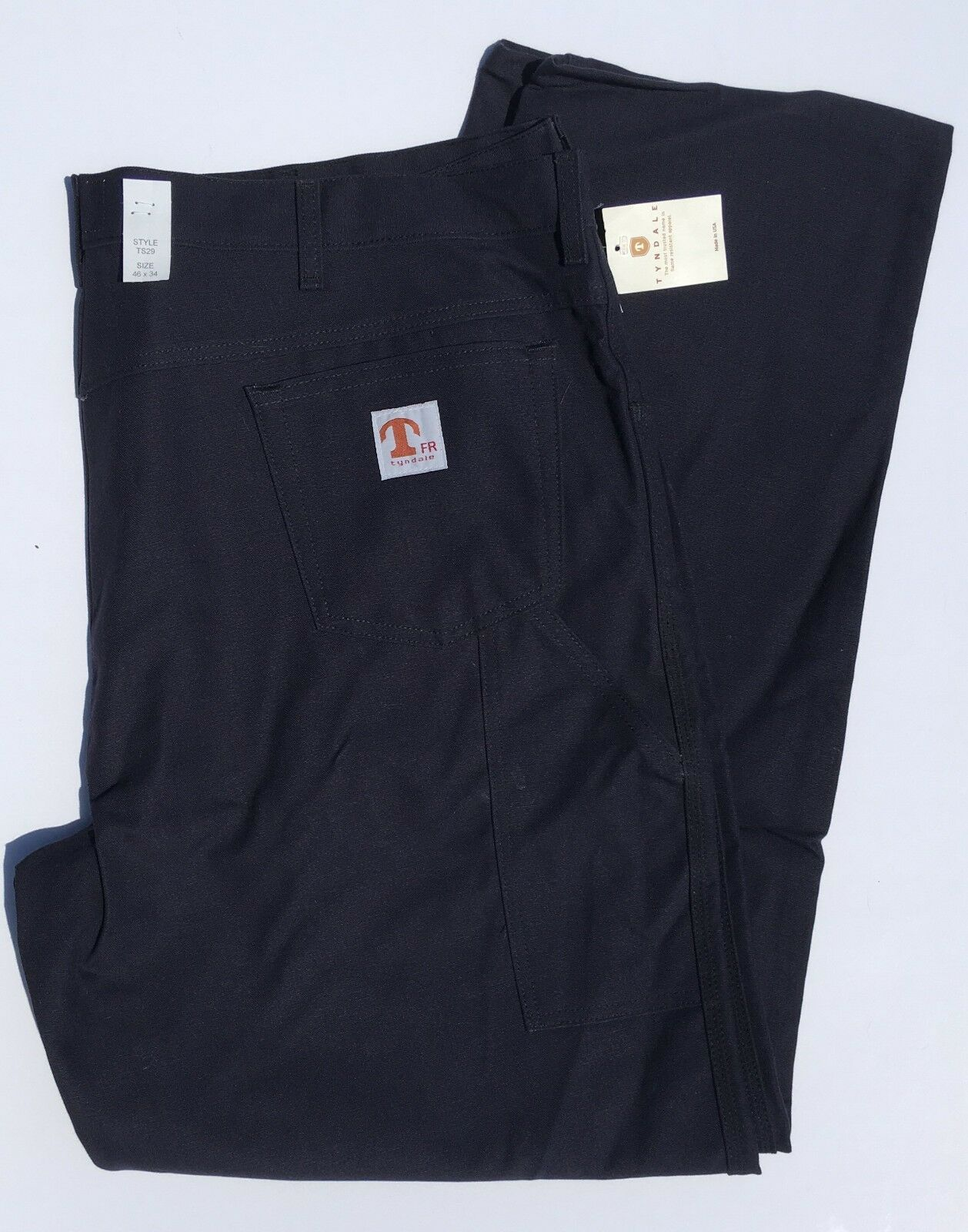 Tyndale Size 46 x 34 Mens bluee Flame Resistant Pants
