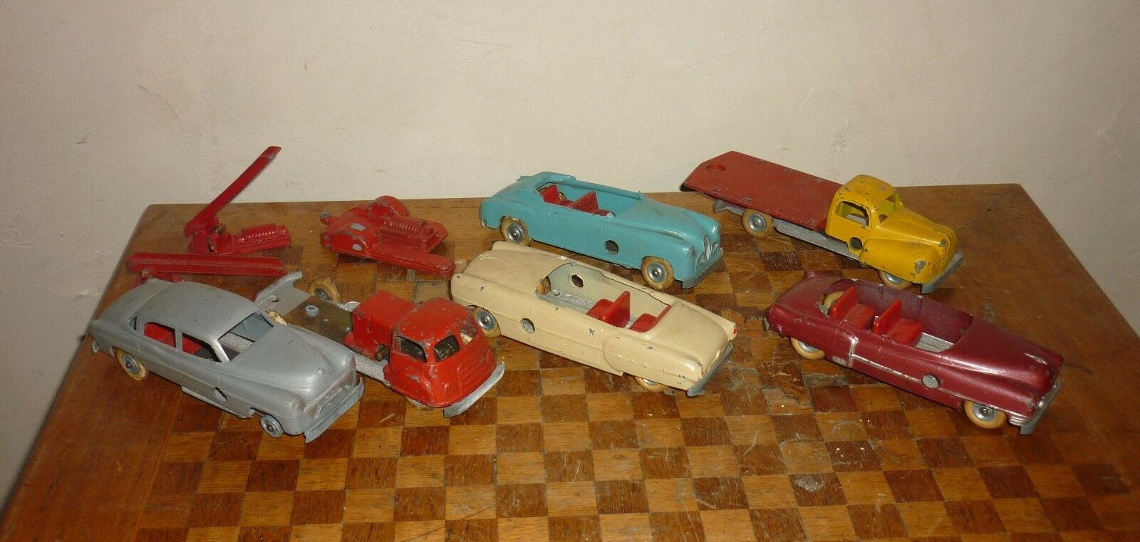 Lot solido detachable car truck... metal old toy mecanique