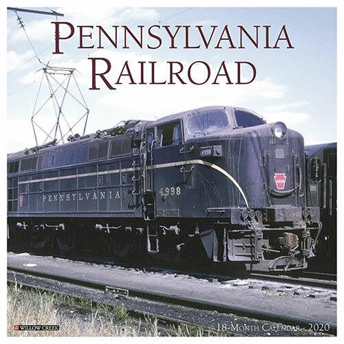 "Willow Creek Pennsylvania Railroad 2020 Wall Calendar 18 Month 12/""X12/"" w"