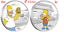 2-Coin-Set-2019-The-Simpsons-Homer-amp-Bart-Simpson-1oz-1-Silver-99-99-Proof thumbnail 1