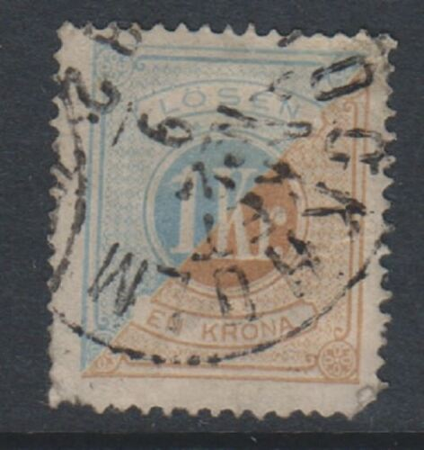 Sweden 187489, 1k Postage Due stamp Perf 14 Used SG D37