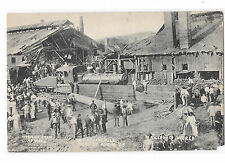 York PA 1908 Rolling Mill Disaster Wrecking Crew at Work Vtg Albertype Postcard