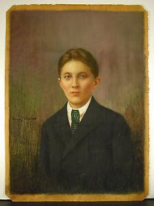 Franc César Pattein Portrait Signé Georgette Femme De Maurice Deschodt 1929 Pastel