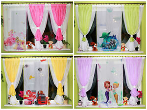 Tende Per Bambini Disney : Amazing childrens voile curtains for kids boys girls disney pink
