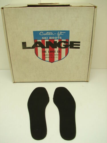 Vintage Lange Custom Fit Ski Boot Insole Insoles Size 10 C