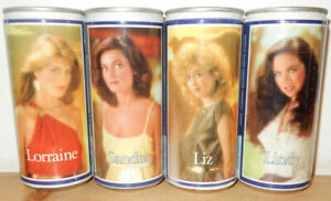 Tennent's Girls 4 cans set Issued 1983-1984 from SCOTLAND (44cl)