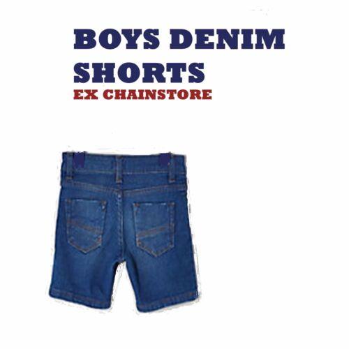 BOYS DENIM SHORTS EX R ISLAND blue ages 3 months till 5 years