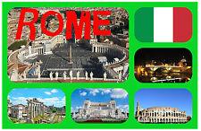 ROMA, ITALIA - RECUERDO ORIGINAL IMÁN DE NEVERA / NAVIDAD