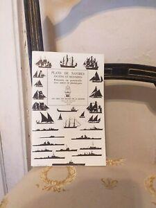 Marine-Plans-de-Navires-Anciens-Et-Modernes-Les-Amis-des-Musees-De-La-Marine