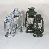 Military Kerosene Oil Lamp Camping Paraffin Lantern Us Army Style Polished Zinc