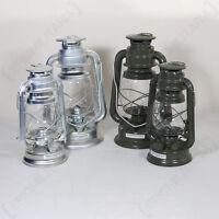 Military Kerosene Oil Lamp Camping Paraffin Lantern Us Army Style Polished Zinc