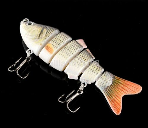 """4/"""" Multi-Jointed 6 Sections Fishing Lure Crank Bait Swimbait Bass Hot Sale"""
