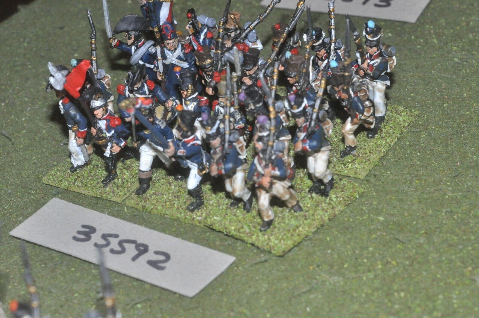 25mm napoleonic   french - regiment 24 figures - inf (35592)