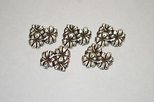 Lot 5 Hibiscus Tropical Flower Rivetback Concho Enmon Silver Leather Belt Craft
