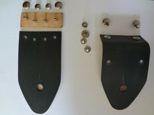 Replacement Guitar Strap Ends for Ace Straps Bobby Lee Straps Green