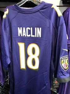 quality design a6b37 2ebc2 Details about JEREMY MACLIN NFL GAME JERSEY BRAND NEW PURPLE BALTIMORE  RAVEN SM,MD,LG,XLG,XXLG
