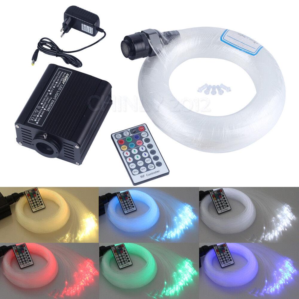 Fibre optique lumière 16 W RGBW DEL Moteur Avec Fibre 0.75 mm 200PCS (2m+3m+4m+5m)