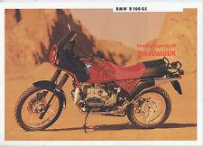BMW R100GS (1991) Dealership Sales Brochure R 100 GS,Boxer Twin,1000 Trailie