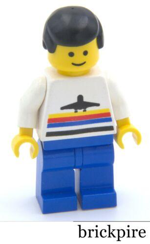 LEGO® Minifig air006 Airport Black Male Hair Classic Blue Legs