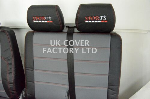 RENAULT MASTER// VAUXHALL MOVANO  UPTO 2010 VAN SEAT COVERS QUILTED  X120GYBK-RD
