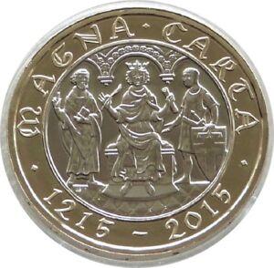 2015 Royal Comme Neuf Magna Carta Universel £ 2 Deux Pound Coin-quatrième Portrait-afficher Le Titre D'origine