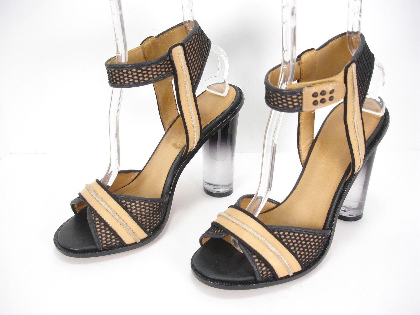 autorizzazione L.A.M.B. GWEN STEFANI nero TAN OPEN TOE TOE TOE ANKLE STRAP SANDALS scarpe donna 9 M  economico in alta qualità