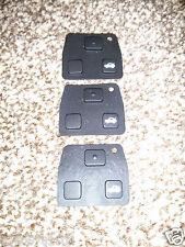3 x Toyota Corolla Avensis Yaris Picnic Lexus 2 3 Button Rubber Key Pad Buttons