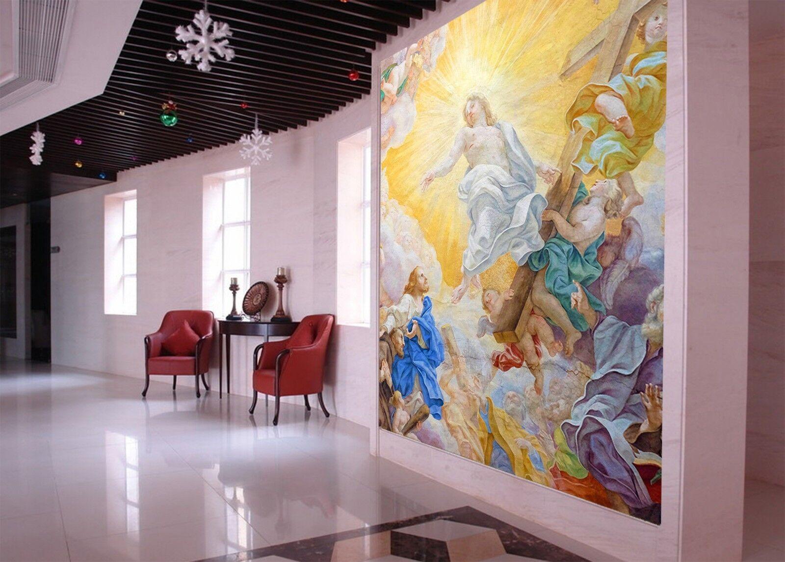 3D European Church 78 Wallpaper Mural Print Wall Indoor Wallpaper Murals UK