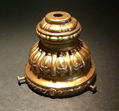 Vintage Antique Gold Cast Metal Swag Lamp Shade Holder Fitter 3.1/4
