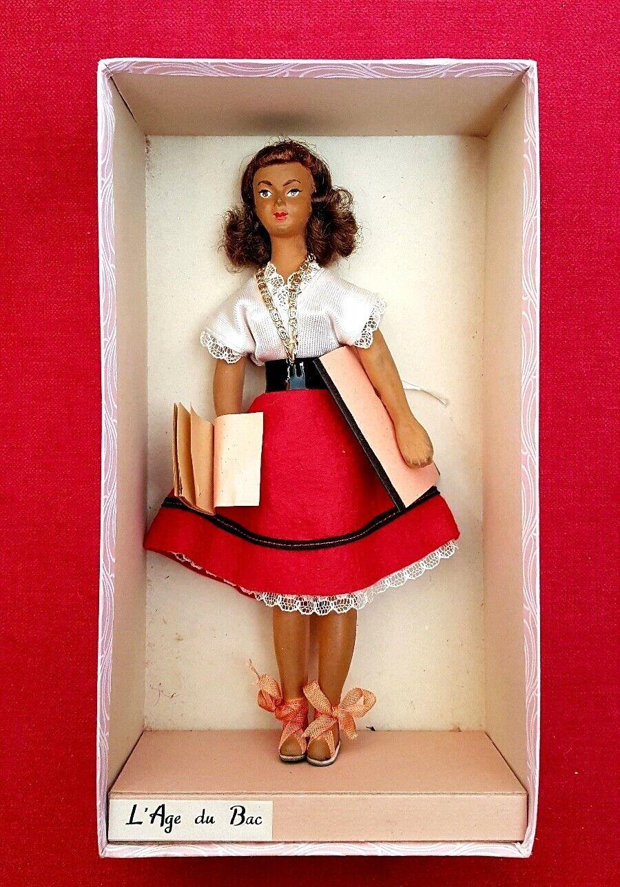 1960 Poupee   L'age du Bac   en Boite - Technigom ancienne Figurine Gout Peynet