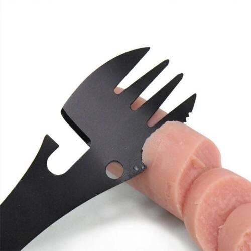 5in1 Titanium Fork Spoon Spork Cutlery Utensil Combo Kitchen Picnic xfu
