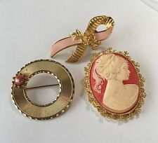 Lot Of 3 Vintage Brooches Pins 1 Is Avon 1 Is Gerry's 1 Is Beaujewels