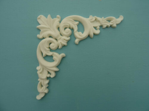 Decorative large scroll corners x 6 applique onlay furniture moulding M1X6