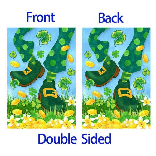 Morigins Funny Shamrock Leprechaun Feet St Patrick/'s Day Spring Garden Flag
