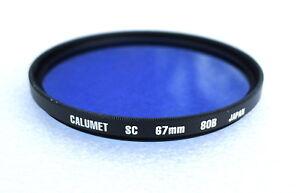 67mm-CALUMET-HOYA-80B-Filter-Blue-Color-Correction-NEW