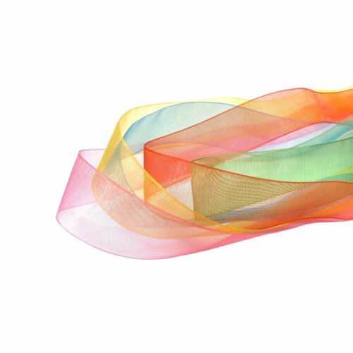 25mm Organza Ribbon Large Wholesale Rolls Of 200 Yards Polyester 25 Colours