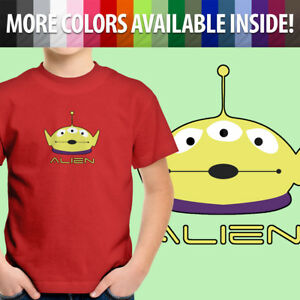 Toddler-Kids-Tee-Youth-T-Shirt-Gift-Toy-Story-Squeeze-Alien-Little-Green-Disney