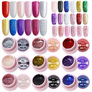 5ml-UR-SUGAR-Soak-Off-UV-Gel-Polish-Nail-Glitter-Rose-Gold-Silver-Gel-Varnish