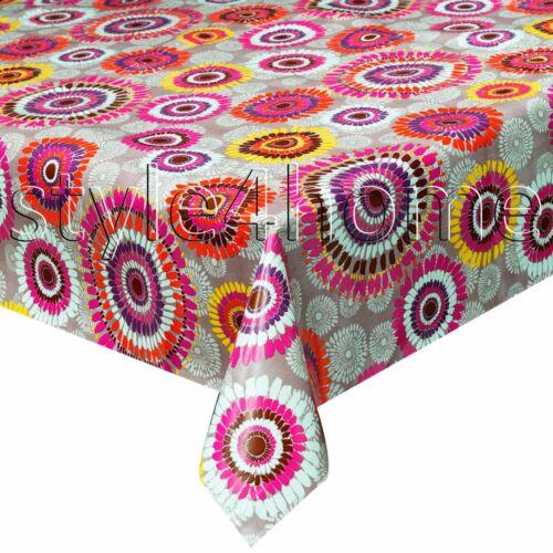 MODERN Wipe Clean PVC Vinyl Tablecloth OILCLOTH 140x200cm Dining Kitchen GARDEN
