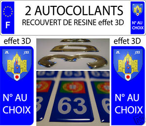 2 sticker plaque immatriculation auto resine 3d blason armoiries montpellier ebay. Black Bedroom Furniture Sets. Home Design Ideas