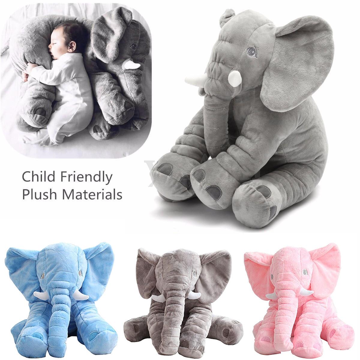 Kinder Baby Elefant Kissen Stofftier Kuscheltier Spielzeug Pillow Geschenk DE TW