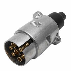 TRAILER-PLUG-7-PIN-ROUND-PLUG-MALE-METAL-ADAPTER-CONNECTOR-CARAVAN-BOAT