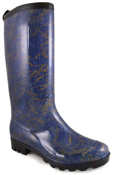 Nuevo Nuevo Nuevo  Damas Smoky Mountain botas occidental-Goma-Azul Denim Cosido caballos  punto de venta