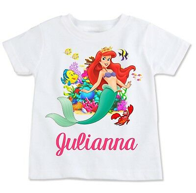 Little Mermaid Custom Personalize Birthday Party Favor Gift T-Shirt