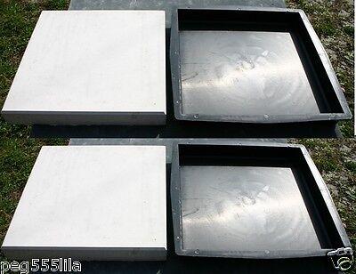 4 Formen Giessformen für Betonplatten 31 x 31 x 4 cm /glatte Oberfläche