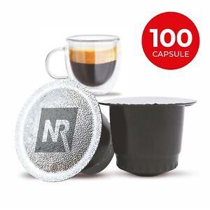 100 Capsule Cialde Caffe Compatibili NESPRESSO Aroma Ristretto NeroRistretto