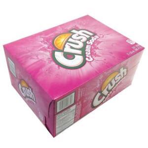PINK-Crush-Cream-Soda-Pop-12-Cans-case-Canadian