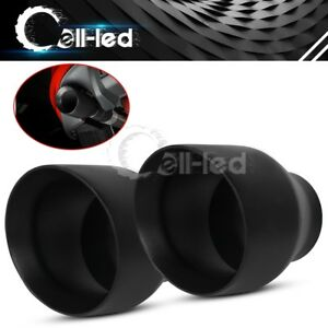 """Pair Dual Layer 2.25/"""" Inlet 3.5/"""" Outlet 7 inch Length Exhaust Tips Polished S//S"""