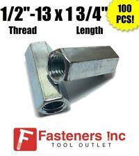 Qty 100 12 13 X W1116 X L 1 34 Coarse Grade A Hex Rod Coupling Nut Zinc